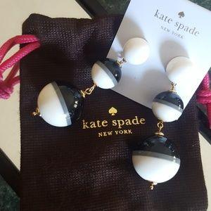 Kate Spade White in a Flash Earrings